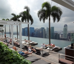 Infinity pool at the Sands at Marina Bay