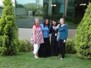 Gidget, Asha, Neelima, me skipping work