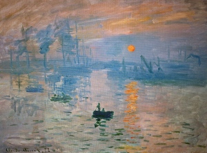 Impression, Sunrise (courtesy of Musée Marmottan Monet)