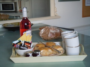 Tray provided by our hosts