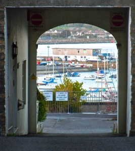 Harbor through Chapel St. archway
