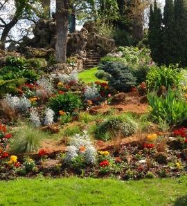 Garden view at Parc Monceau