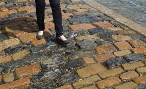 Cobblestone causeway