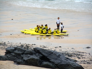 St Ives Surf School in session