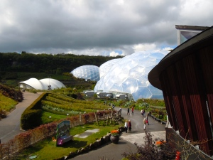 View of the Eden Project from the bridge