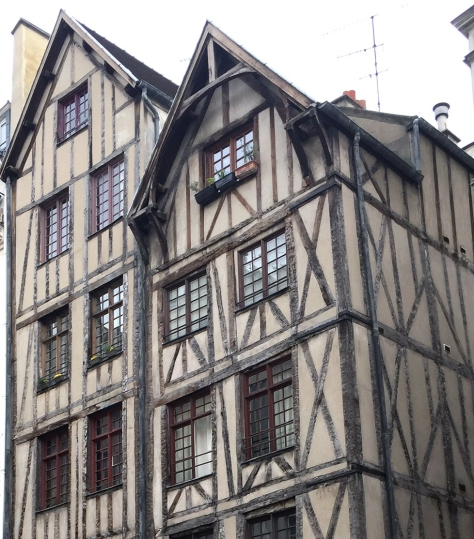 Half-timbered 14th century houses